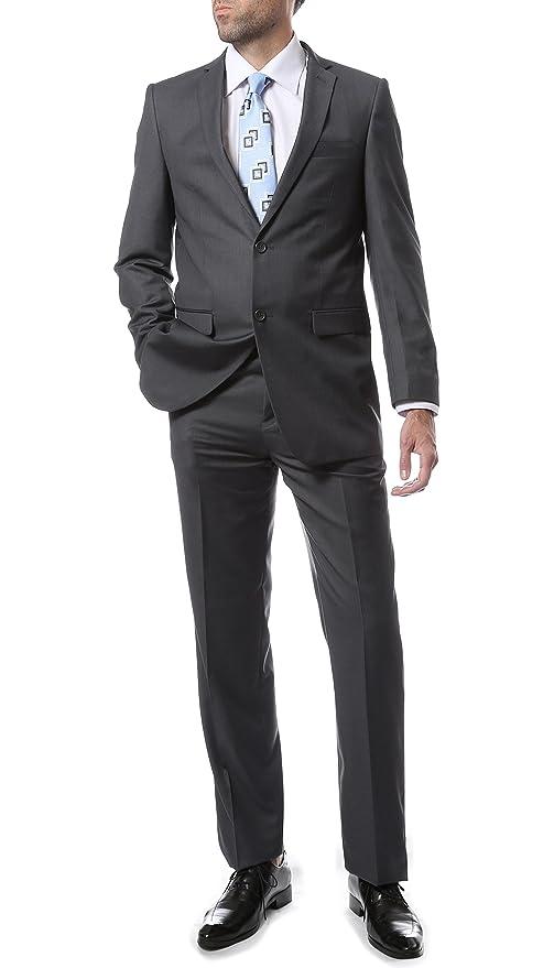 Amazon.com: ferrecci para hombre 2 pc 2 botón Premium traje ...