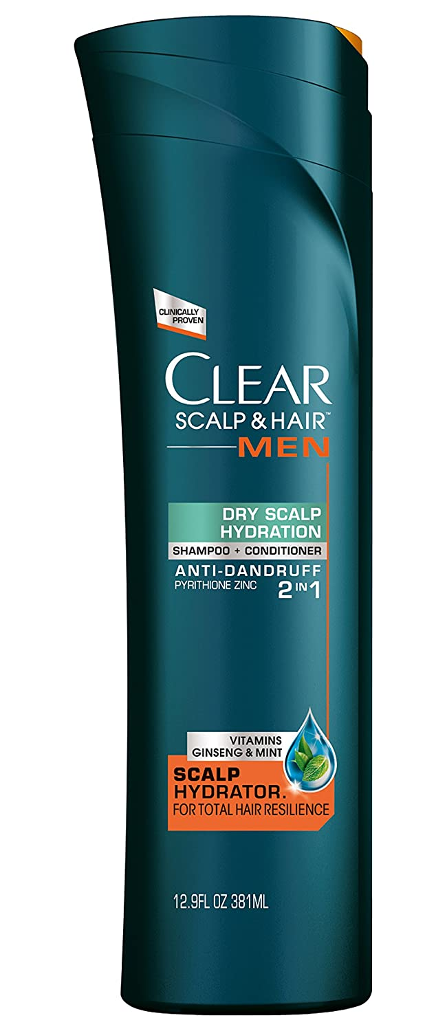 43a2054d0364 Clear Scalp and Hair Men Shampoo and Conditioner, Dry Scalp Hydration 12.9  oz