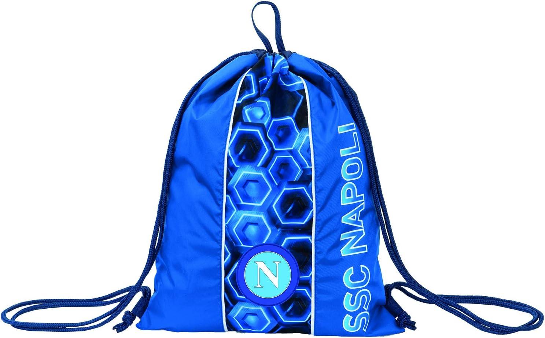 Ba Unisex Bambini Unica ssc napoli Sacca-Zainetto Easy Bag Napoli Keep Winning Scuola /& Tempo Libero Blu