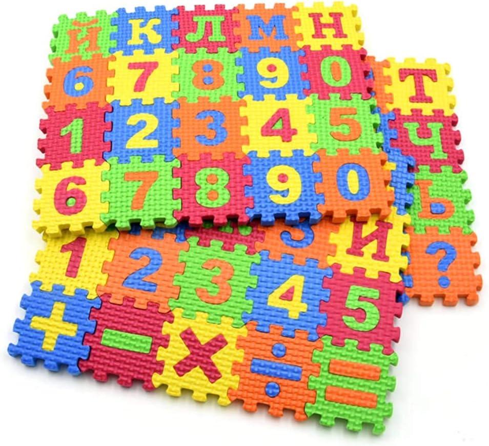 Mosichi Alphabet /& Numbers EVA Foam Puzzle Mat Toy 60Pcs//Set Russian Alphabet Carpet Baby Kids Education Toy Preschool Learning Mat