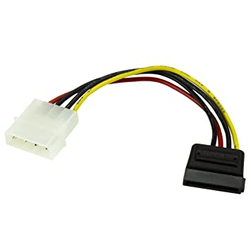 Informatica 2019 Latest Design Cavo Connettore Ide Molex Lp4 To 2x Sata Latching Power Y Cable Splitta Adapter And To Have A Long Life.