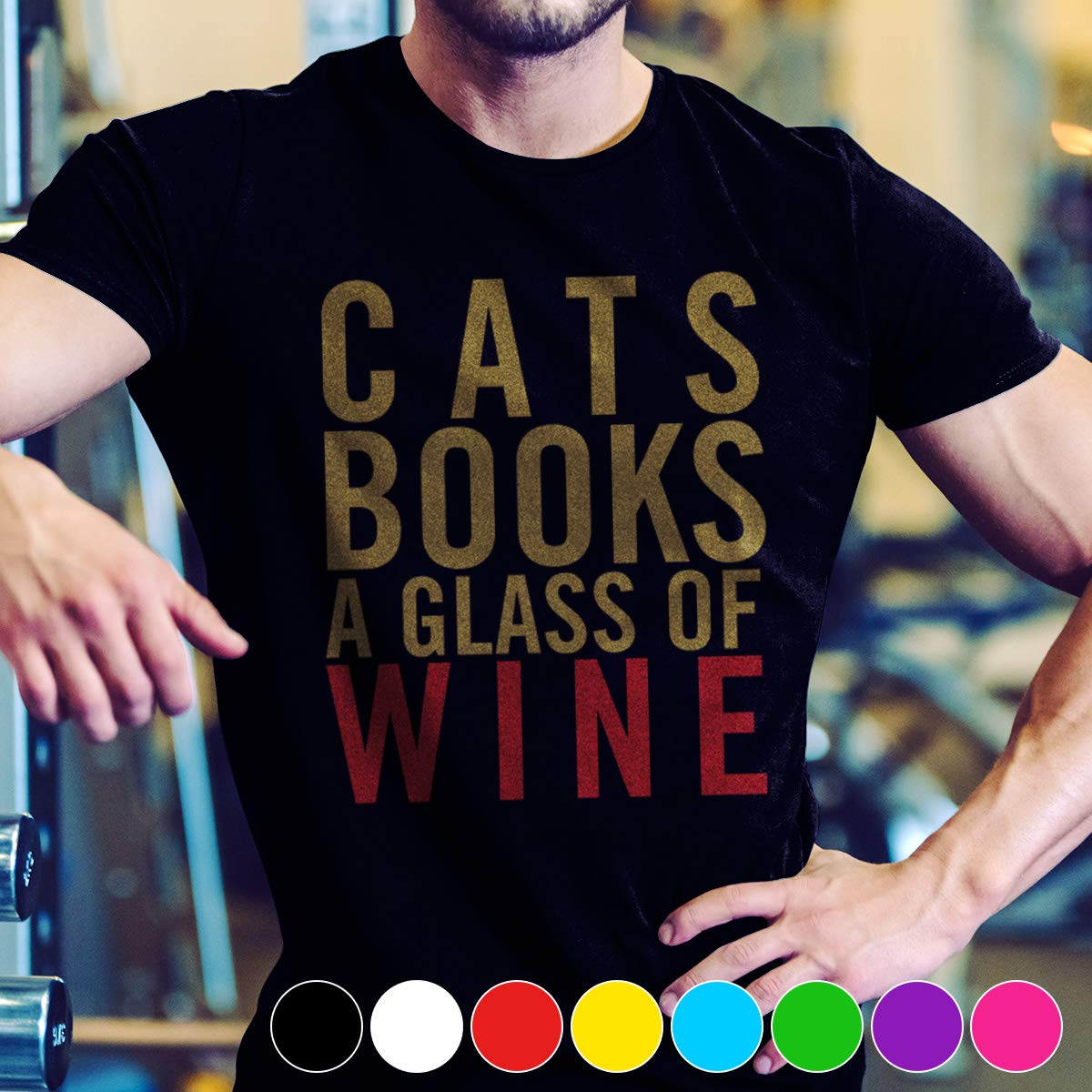 Wine Cats Books A Glass Of Wine Tshirt For Cat Lovers T Shirt