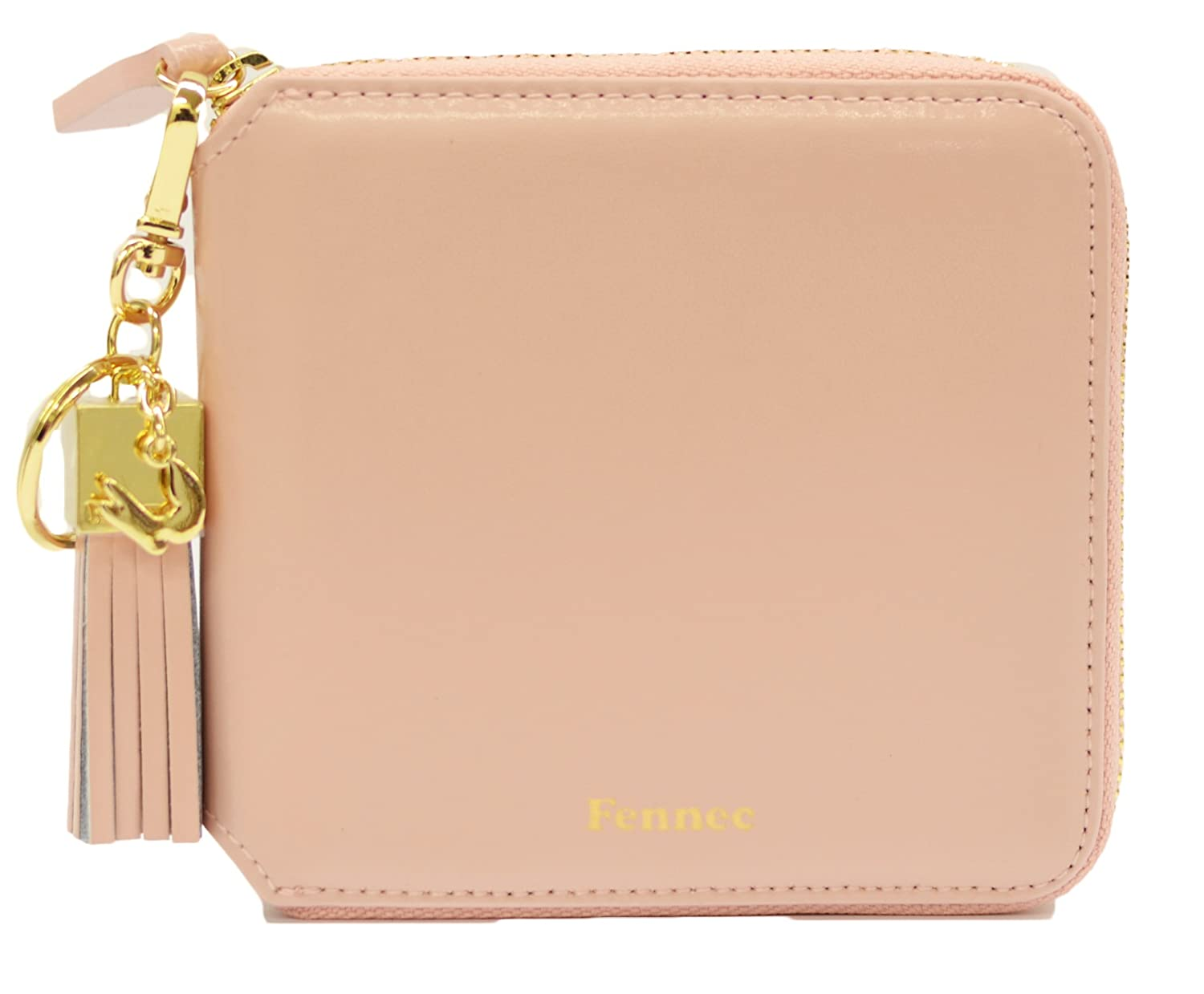 Fennec Zipper Wallet Square Tassel フェネック 二つ折り財布 コインケース付き 【Fennec OFFICIAL】 B0765N4GTX ライトピンク ライトピンク
