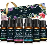 Janolia Set met etherische oliën, upgrade-pakket, pure natuurlijke geuroliën voor diffuser om ontspanning te verbeteren