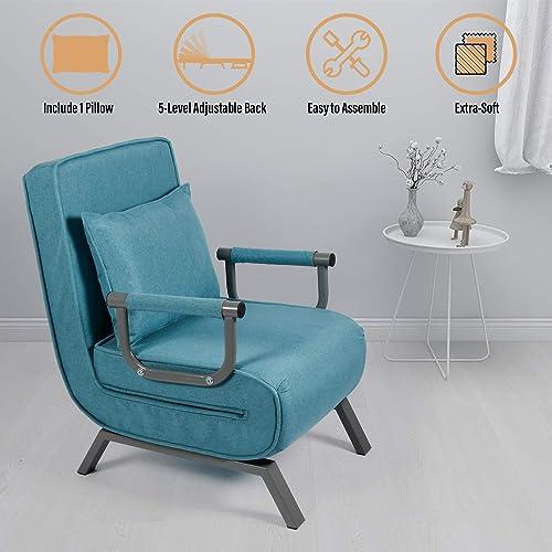 Convertible Sofa Bed Folding Arm Chair Sleeper - a good cheap living room chair
