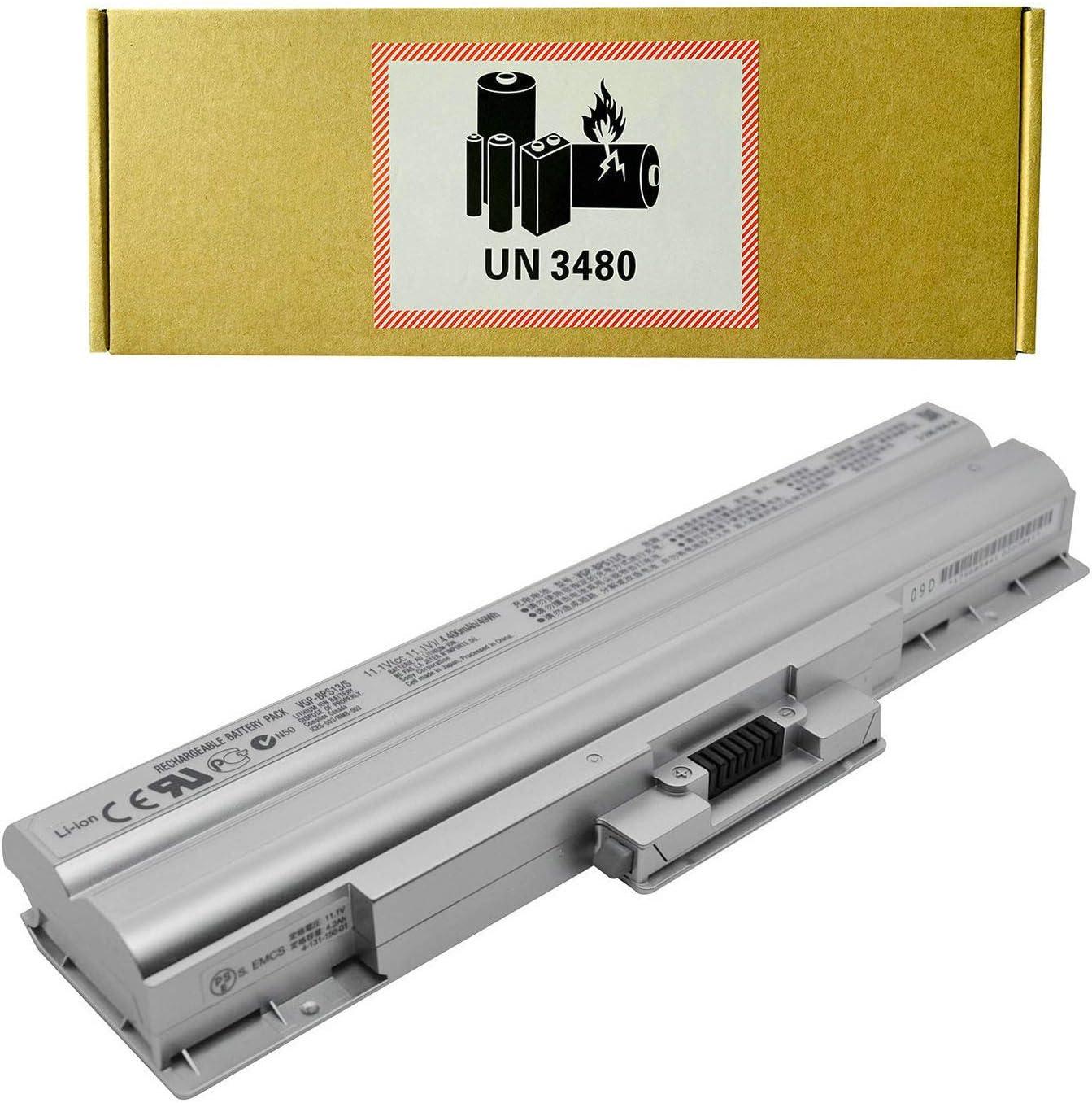 CQCQ VGP-BPS13 VGP-BPS13S BPS13 Compatible Battery Replacement for Sony VGP-BPS13/S VGP-BPS13A/S VGP-BPS13 VGP-BPS13B/S Sony VAIO VGN-AW53FB VAIO VGN-AW73FB VAIO VGN-AW80S Laptop (11.1V 49Wh/4400mAh)