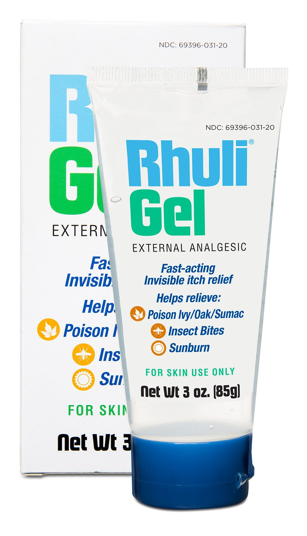 Rhuli Gel (ORIGINAL FORMULA) FAST ACTING INVISIBLE ITCH RELIEF GEL: Helps relieve: Poison Ivy/Oaks, Insect Bites, and more. 2 x 3 Oz Tube (6 oz)