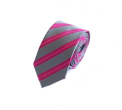 Corbata de Fabio Farini en rosa gris: Amazon.es: Ropa y accesorios