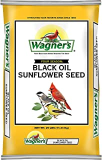 product image for Wagner's 76026 Four Season Black Oil Sunflower Seed Wild Bird Food, 20-Pound Bag