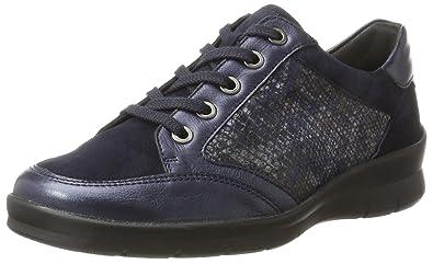 Semler Xenia, Zapatos de Cordones Brogue para Mujer, Grau (Grey-Grau-Anthrazit), 38 EU