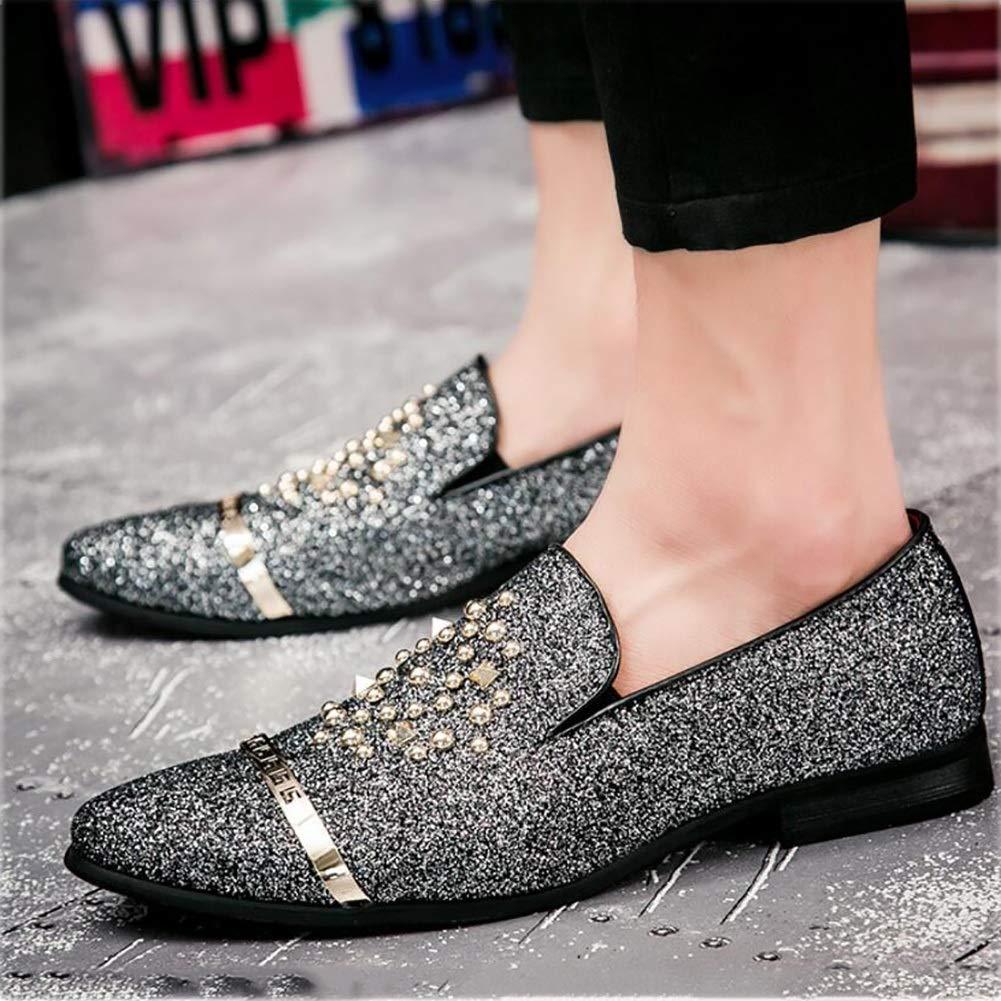 Männer Spitz Schuhe, British Style Rivet Schuhe, Winter Herbst Winter Schuhe, Komfort Formale Schuhe, Hochzeitsschuhe, Flut Schuhe, Friseur Schuhe (Farbe   EIN, Größe   40) (Farbe   On, Größe   41) d0fe43