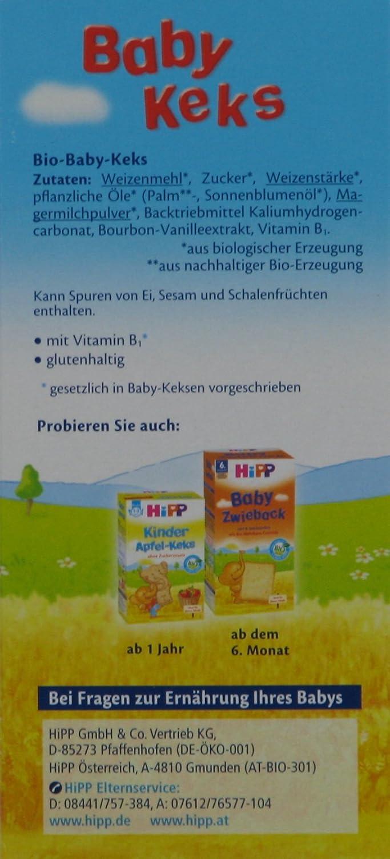 Hipp bebé Galletas Bio - a los 8 meses, 150g: Amazon.es: Alimentación y bebidas