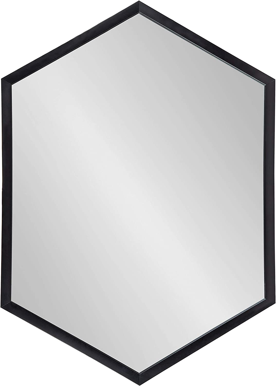 Amazon Com Kate And Laurel Laverty Modern Framed Hexagon Mirror 22 X 31 Black Contemporary Geometric Wall Decor Furniture Decor