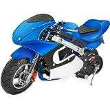 XtremepowerUS Gas Pocket Bike Motorcycle 40cc 4-stroke Engine (Blue)