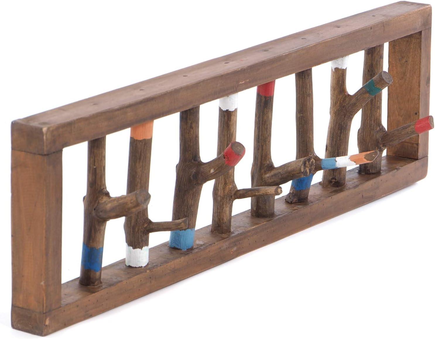 Treibholz Garderobe Bunt Holz