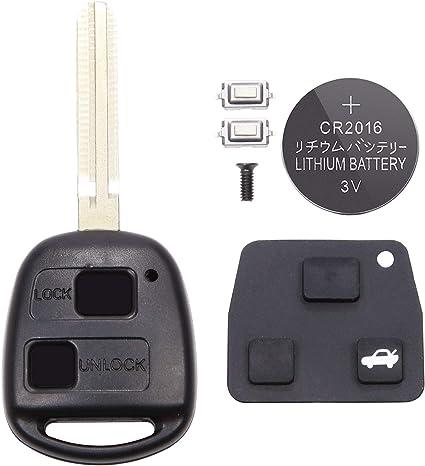 Schutzhülle Mit Batterie 2 Tasten Für Schlüssel Toyota Yaris Avensis Rav4 Auto