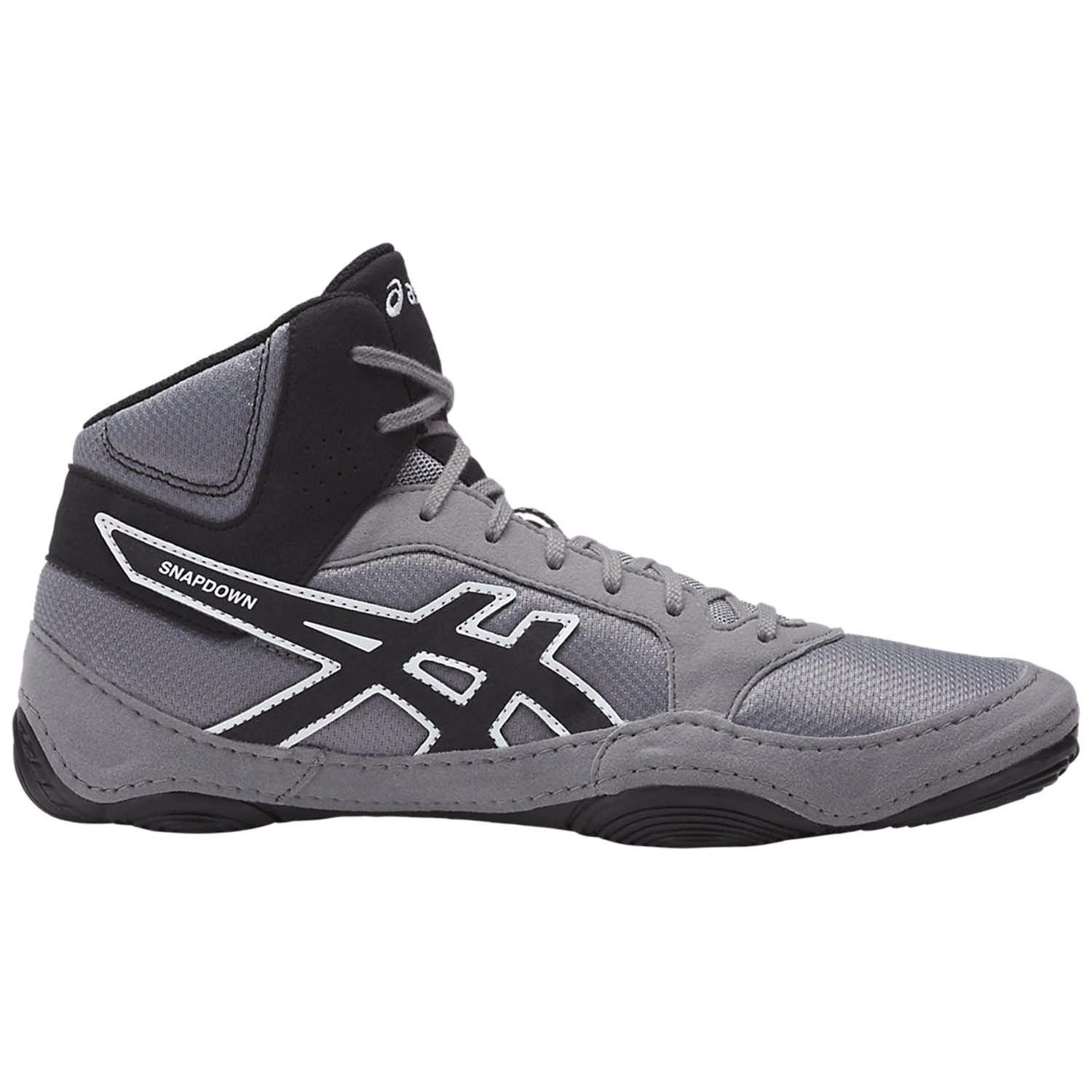 ASICS Men's Snapdown 2 Wrestling Shoe, Black/Aluminum/White, 8 Medium US by ASICS