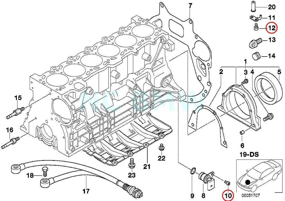 BMW Genuine Fillister-Head Screw