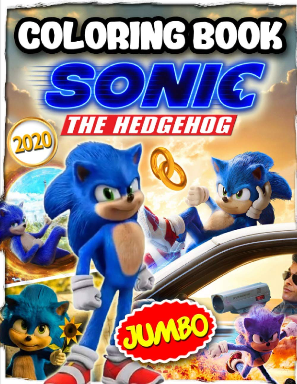 Sonic The Hedgehog 2020 Coloring Book Sonic 2020 Coloring Book Based On Sonic The Hedgehog 2020 Adventure Film Johnson Dave 9798624378537 Amazon Com Books
