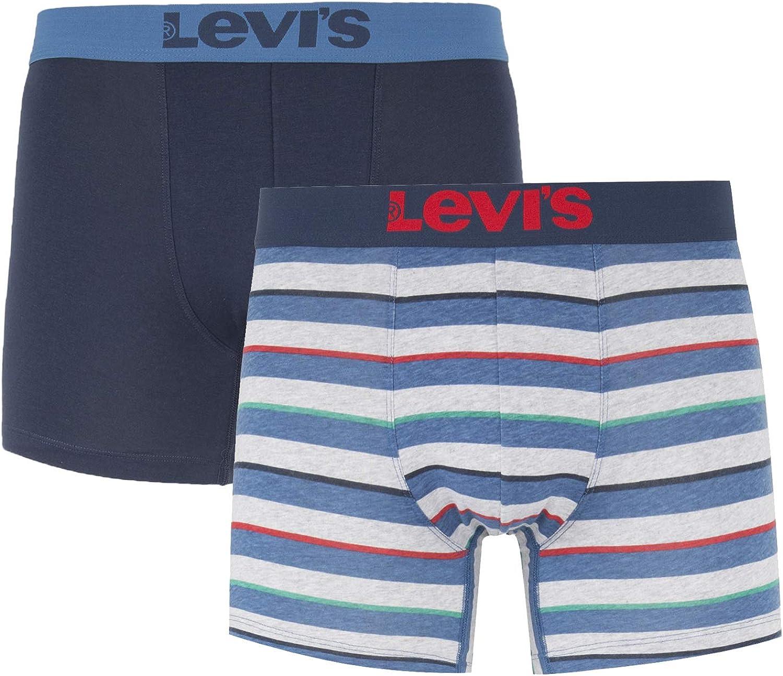 Levis 2-Pack 200SF Rugby Rayas Hombres Boxeador Escritos, Multi/Navy Medio: Amazon.es: Ropa y accesorios