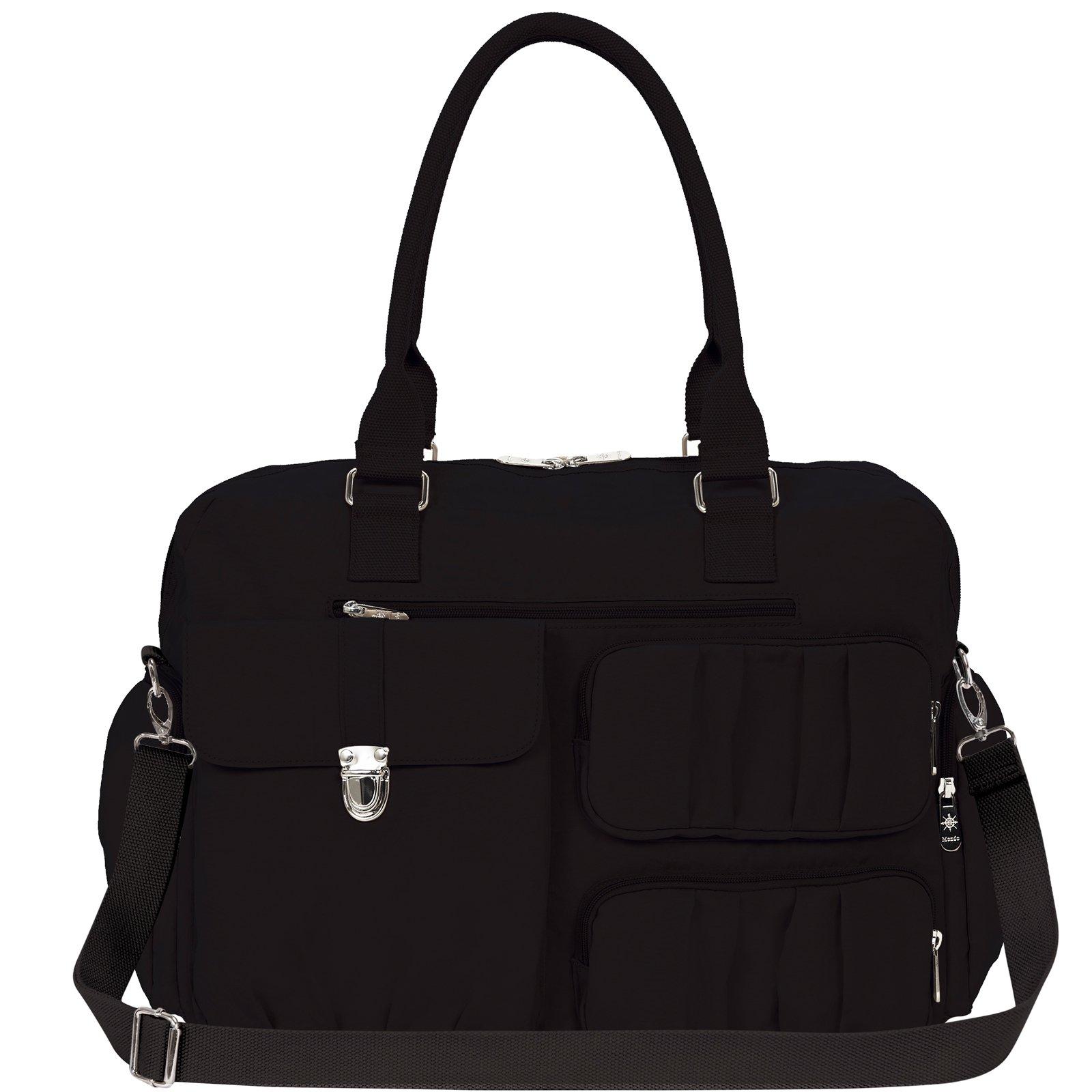 Mondo Top Handle Nylon Travel Tote Weekender Handbag with Shoulder Strap
