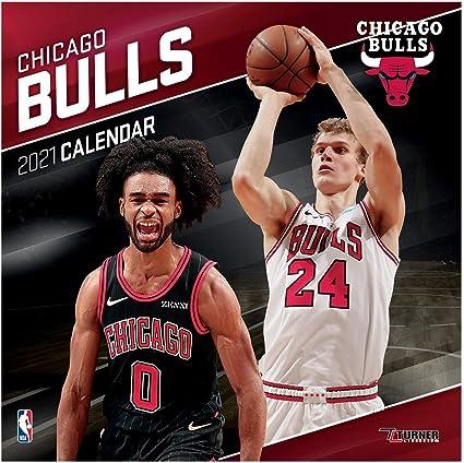 Calendrier Nba 2021 Turner NBA 30x30cm Calendrier Mural 2021 Chicago Bulls