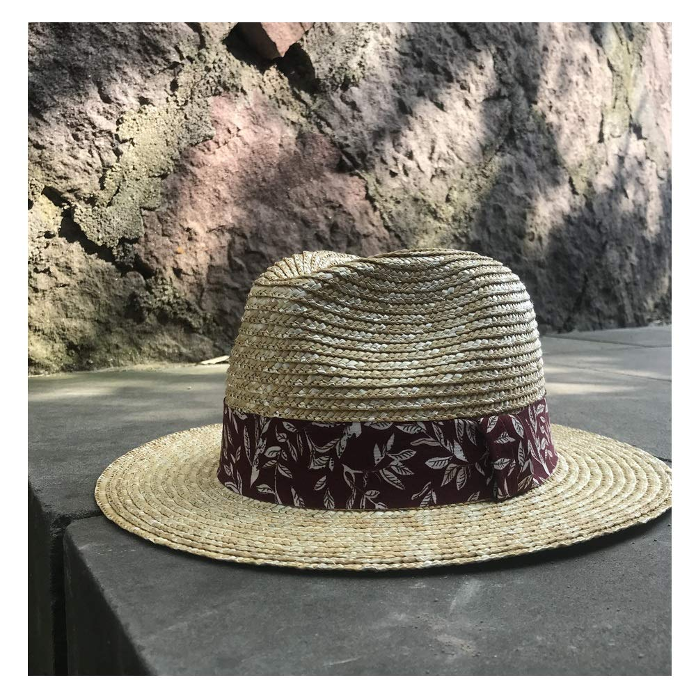 Sun Hat Sun Hat Women Straw Hat Beach Red Cloth Decoration Summer Visor Hat Vintage Panama Hat Cool Jazz Hat Fashion