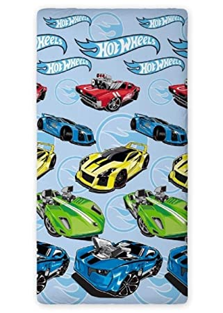 drap housse 90x200 cars Maxi&Mini   HOT WHEELS DRAP HOUSSE 90x200 CM   100% COTON IDÉE  drap housse 90x200 cars