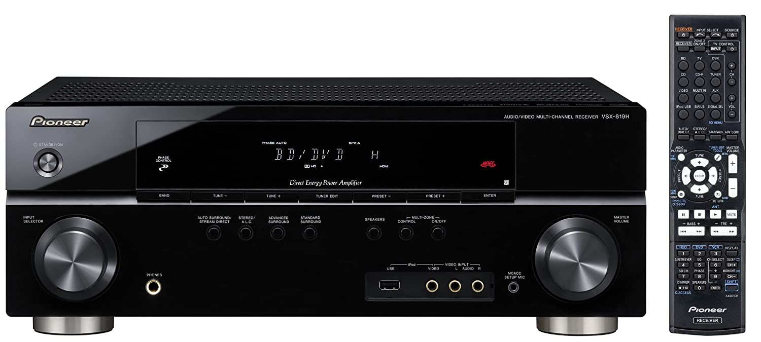 Pioneer VSX-819H-K 5-Channel A/V Receiver (Black) (Discontinued by  Manufacturer)