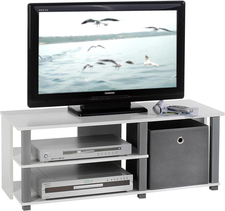 Mueble de TV Rack Denver HiFi Estantería Mesa de Televisión, en ...