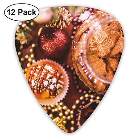Amazon Com Custom Guitar Picks Biscuits Christmas Cookies Cupcakes