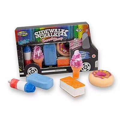 Creative Kids Sidewalk Chalk Sweet Shop 5 Non Toxic Chalk Novelty Shaped 4+: Office Products