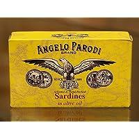 Angelo Parodi - Portuguese Sardines in Pure Olive Oil, (10)- 4.23 oz Tins
