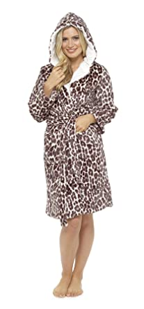 Women s Animal Print Fleece Robe 8edea6ec2