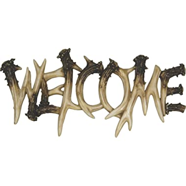 River's Edge Products 1382 Deer Antler Theme Welcome Plaque