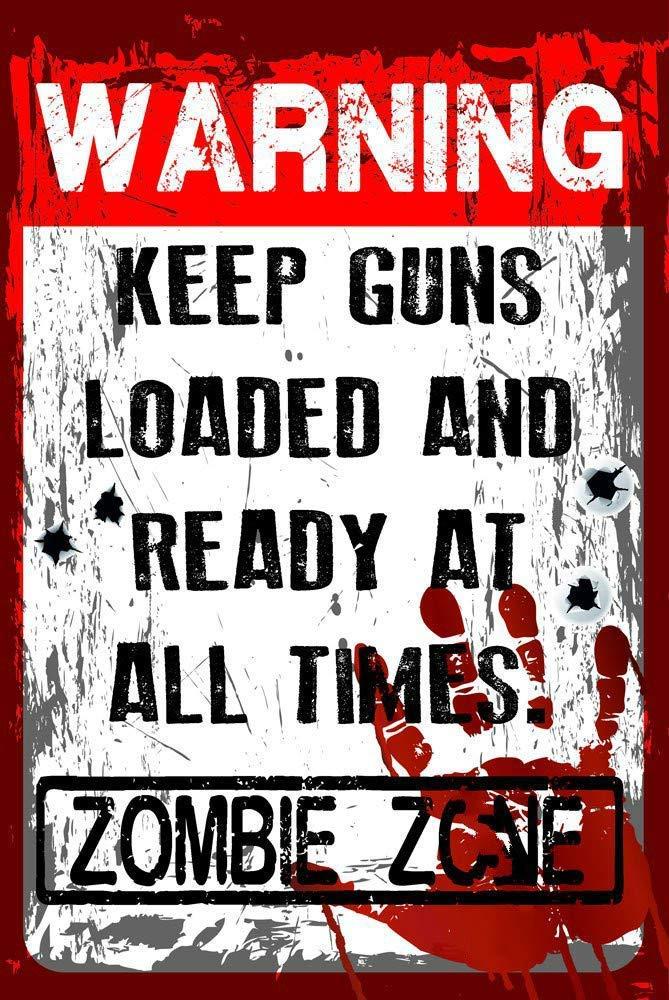 Warning Zombie Zone Carteles de Chapa de estaño Señal de ...
