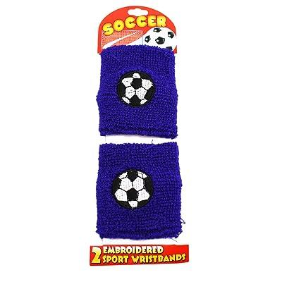 Purple Colored Soccer Stretchable Wristband Set (2 pc)