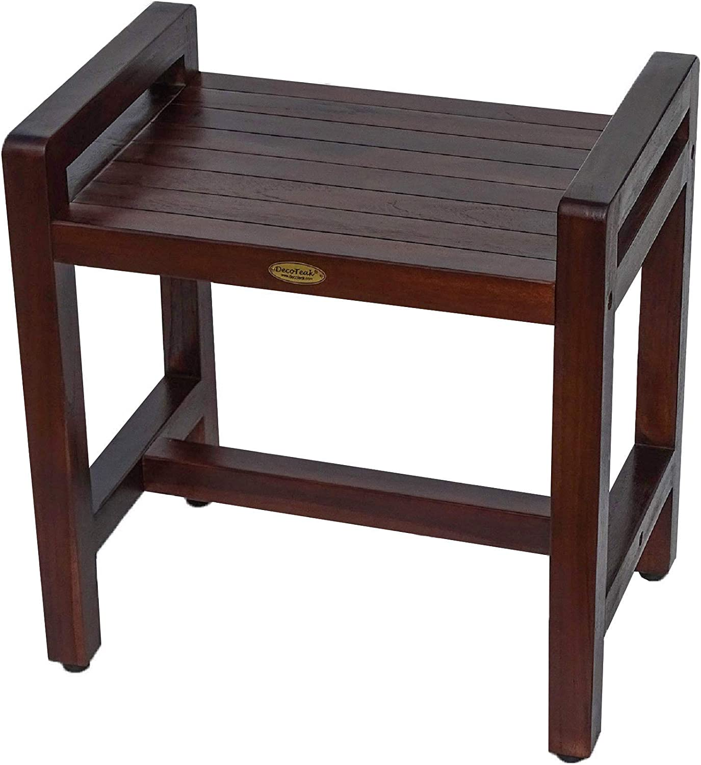 "B009I8INU4 Classic 18"" Teak Shower Bench with LIFTAIDE ARMS- Adustable Height Foot Pads- Home Health Medical Bench Features-Sitting, Shaving, Display, Storage 71xd8PVr7DL.SL1500_"