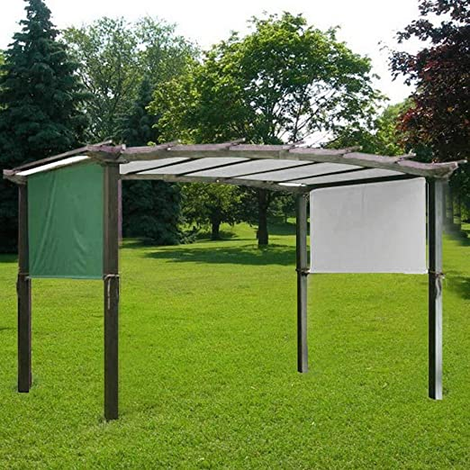 Haofy Cubierta para pérgola para Patio, Cubierta de Repuesto para toldo, 17.1 pies x 6.6 pies, Verde: Amazon.es: Jardín
