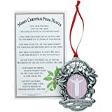 merry christmas from heaven photo ornament loved ones tree decoration personalized - Merry Christmas From Heaven Poem