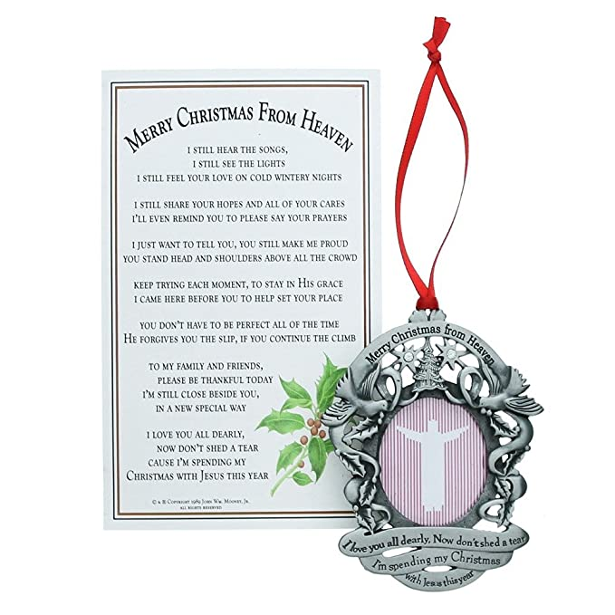 Amazon.com: Merry Christmas from Heaven Photo Ornament - Loved Ones Tree  Decoration (Non-personalized): Home & Kitchen - Amazon.com: Merry Christmas From Heaven Photo Ornament - Loved Ones