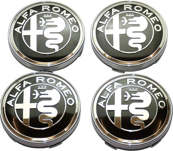 4 Stück Nabenkappen Alfa Romeo Giulietta 159 146 157 Brera Fregi Felgen 60 Mm Nero Silver Beleuchtung