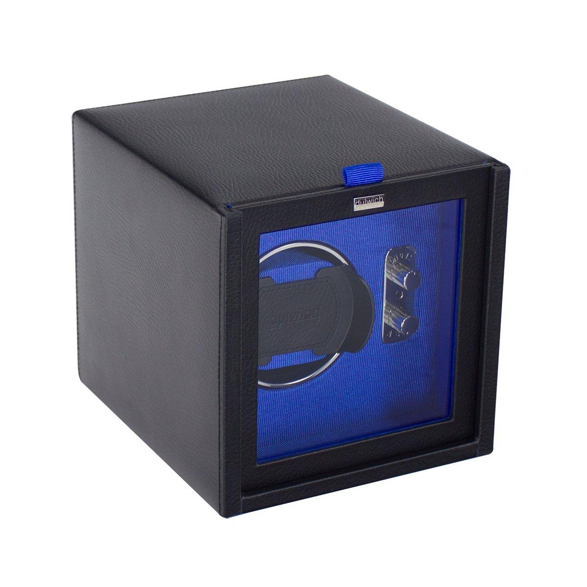 Dulwich Designs herren accessoire schwarz & blau einzeln uhrenbeweger rotator