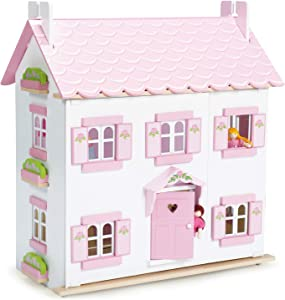 Le Toy Van - Iconic Sophie's Large Wooden Doll House | Dream House Wooden Dolls House Play Set | Great As A Gift | Suitable for Ages 3+