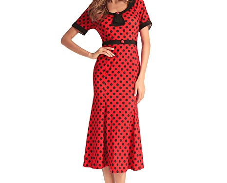 ed811e1f2d 2018 Spring New Dress European and American Women's Brand Fish Tail Skirt  Wave Point at Amazon Women's Clothing store: