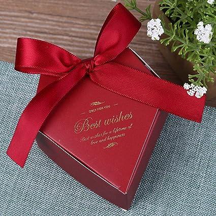 50 pcs Caja de dulces de boda, Bolsa de dulces creativa, Caja de ...