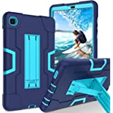 GUAGUA Case for Samsung Galaxy Tab A7 Lite 8.7 inch 2021 SM-T225 T220 Kickstand Heavy Duty Cover 3 in 1 Rugged Shockproof Pro