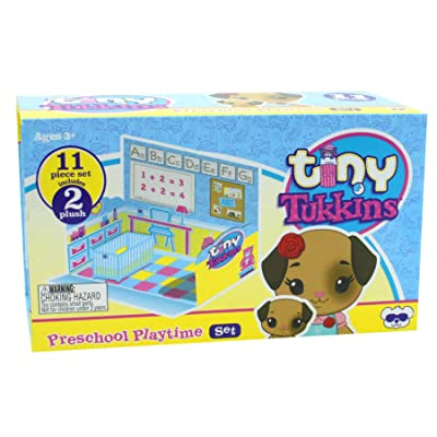 Tiny Tukkins Playset Assortment with Plush Stuffed Character, Dog with Patch: Toys & Games