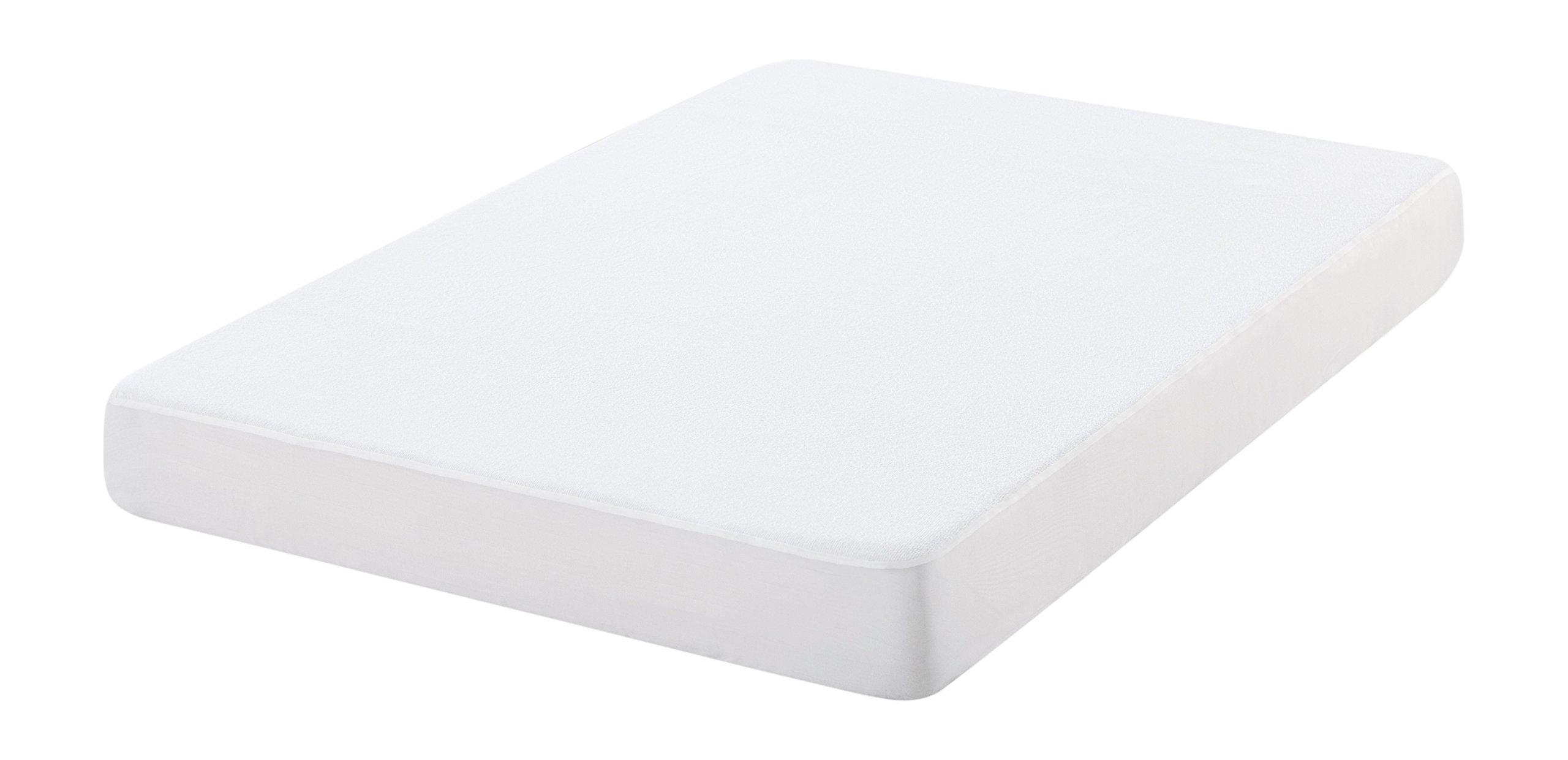 Oasis Funda de colchón antiácaros de Rizo, 100% algodón, Blanco, 190x80x25 cm