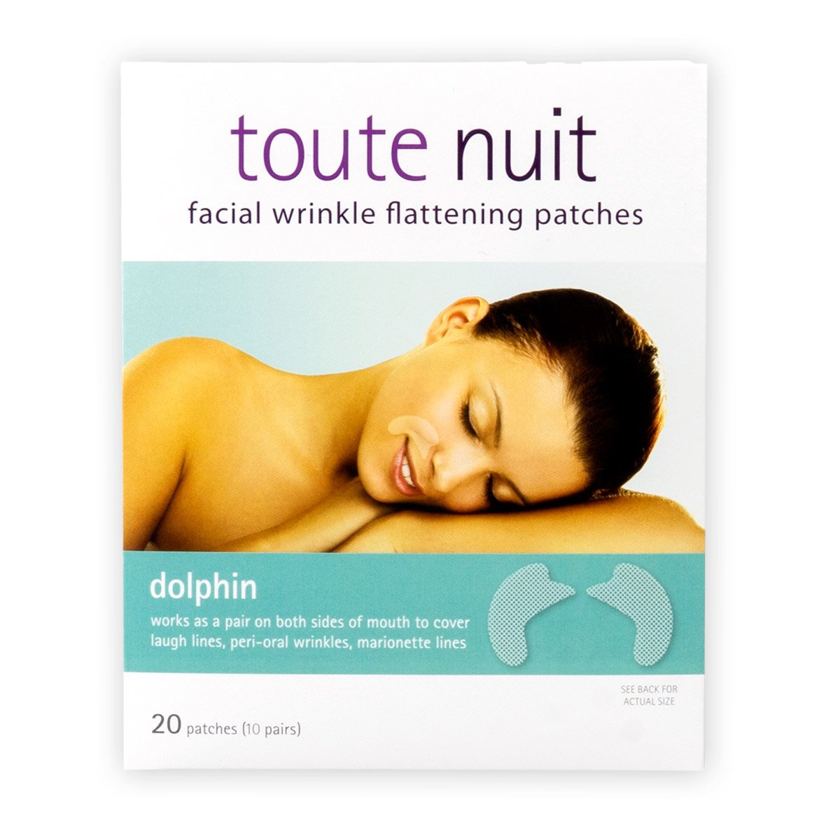 Toute Nuit - Mimiko Inc. Toute Nuit Facial Wrinkle Flattening Patches – DOLPHIN Full Coverage Around Mouth (Anti-Wrinkle Patches/Face Tape)